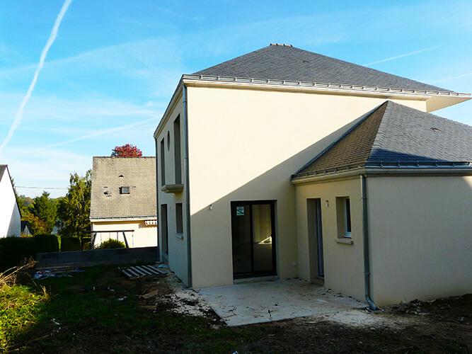 Réalisation d'une construction neuve à Siant Sébastien sur Loire par le maçon, ETB Maçonnerie