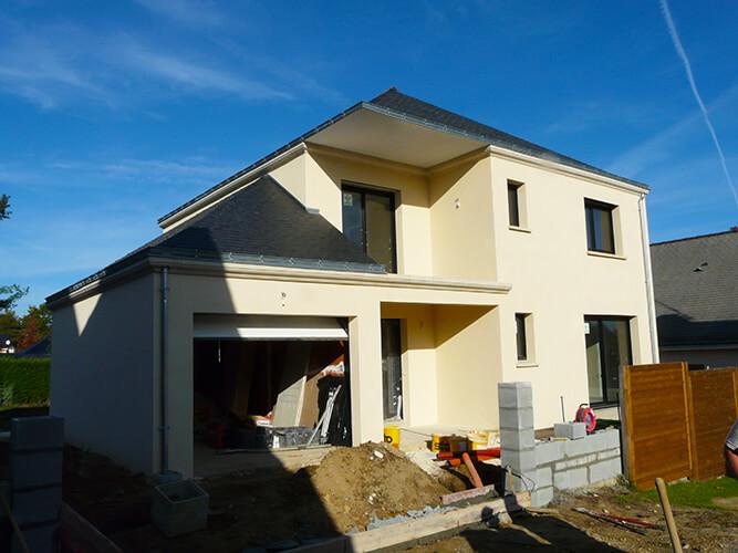 Construction de maison neuve par notre entreprise de maçonnerie à Vertou